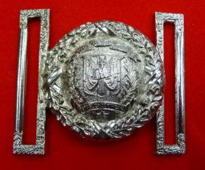 Boucle de ceinturon d'officier dominicain (droits réservés)